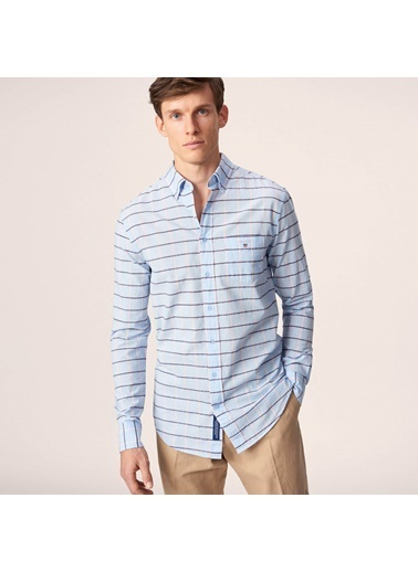 Kareli Uzun Kollu Gömlek-Gant